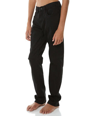 New Billabong Boys Kids Boys Outsider Slim Overdyed Jean Cotton Elastane Black