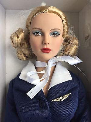 "Tonner Tyler 16"" Tonner Air Stewardess Shelly Dressed Doll LE 150 NRFB Supergirl"