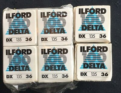 Ilford 100 Delta Film DX 135 Expired - Lot Of 6 Rolls