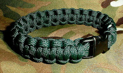 550 Paracord Survival Bracelet - Rifle Green- Rifles SAF RGJ Royal Irish Gurkha