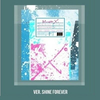 Monsta X - [Shine Forever] A Ver.CD+2p Poster+Booklet+Bromide+Photocard+Sticker