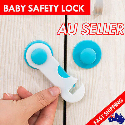 Adhesive Baby Child Kid Safe Safety Lock Latch For Door Cabinet Drawer Cupboard