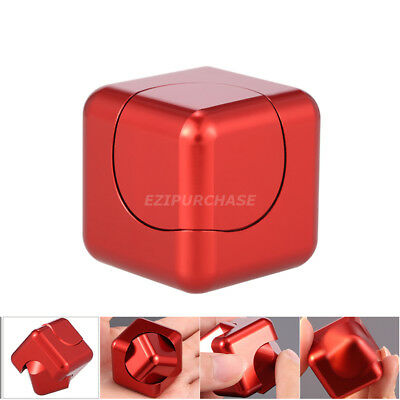 Fidget Hand Spinner Metal Stress Relief Cube EDC Focus ADHD Desk Finger Toy S001