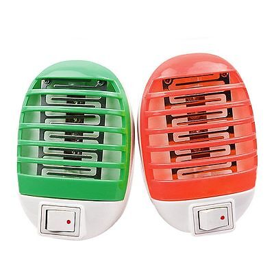 Lamp Fly Killer US Plug Roung LED Night Mosquito Bug Insect Zapper Trap Electric