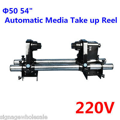 """220V Φ50 54"""" Automatic Media Take up Reel for Mutoh / Mimaki / Roland / Epson"""