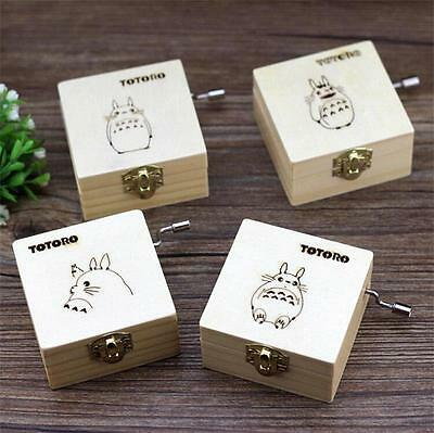 1pc Studio Ghibli Anime Totoro Wooden Music Box Collection Figures Gift Girls
