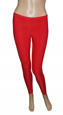 Girls Legging Kids Plain Color School Fashion Dance Leggings New Red Colour