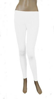 Girls Legging Kids Plain Color School Fashion Dance Leggings New White Colour