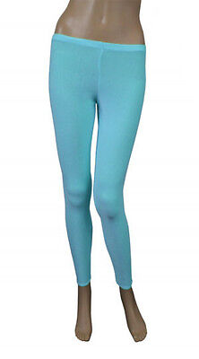 Girls Legging Kids Plain Color School Fashion Dance New Royal Turquoise Colour