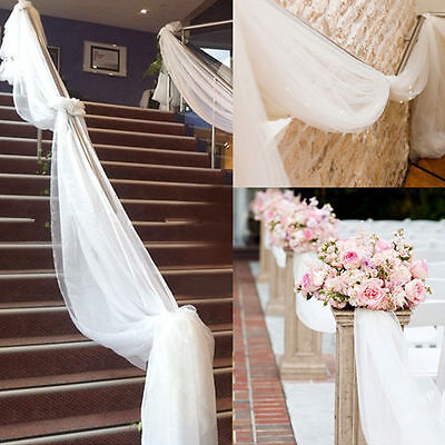 33FT/10M Top Table Chair Swags Sheer Organza Fabric Diy Wedding Party Decoration