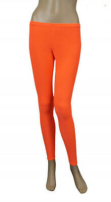 Girls Legging Kids Plain Color School Fashion Dance New Royal Orange Colour