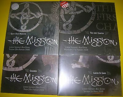 The Mission - FIRST CHAPTER GOD'S OWN CHILDREN CARVED IN SAND 4 LIVE vinyl LPs
