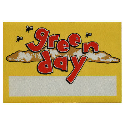 Green Day authentic 1994 Dookie Tour satin Backstage Pass vintage collectible