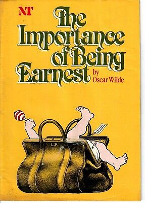 The Importance of Being Earnest - 1982 National Theatre program