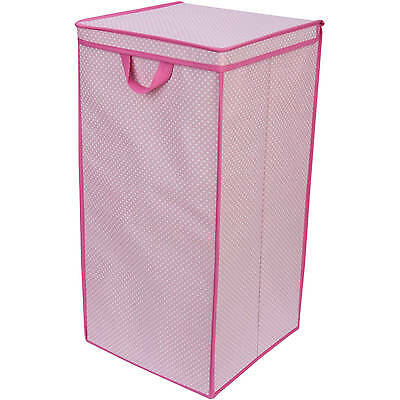 Delta Children Tall Nursery Clothing Hamper, Barely Pink Polka Dot, Girls