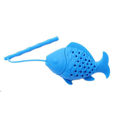 Home Silicone Fish Tea Leaf Infuser Spice Herbal Strainer Filter Diffuser E2N2