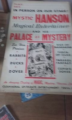 Mystic Hanson Carboard Poster  Rare Magic From The Usa