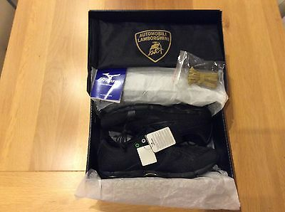 Automobili Lamborghini Mizuno Wave Running Shoes Boxed New Black size uk 10.5