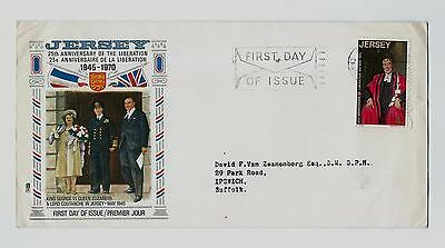 Liberation of Jersey 25 Year Anniversary First Day Cover - May 1970