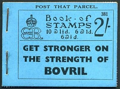 1936 KEVIII 2/- Blue Booklet STAPLED - Scarce! BC2