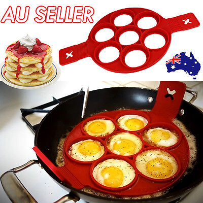 Non Stick Pancake Pan Flipper Silicone Egg Omelette Mould Breakfast Maker Tool