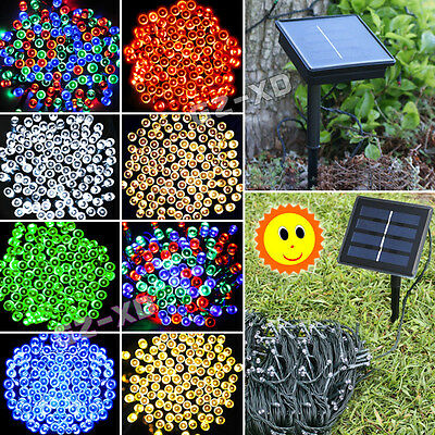 50-400 LED Solar Powered String Fairy Light Outdoor XMAS Party Lamp Waterproof