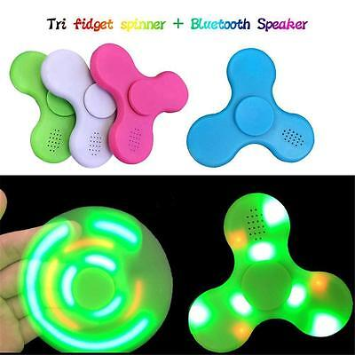 LED Bluetooth Music Speaker Fidget Spinner Gyro EDC Hand Spinner EDC ADHD Autism