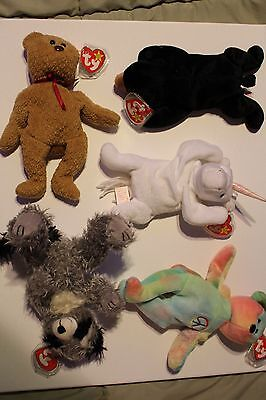 Lot of RARE Beanie Babies MWMT (Mint With Mint Tags)