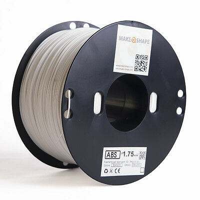 Filamento abs bianco 1kg 1.75mm stampa 3d 100% made in italy