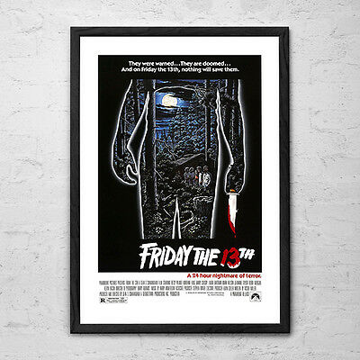 Friday the 13th - Vintage Horror Cult Movie Poster - 1980