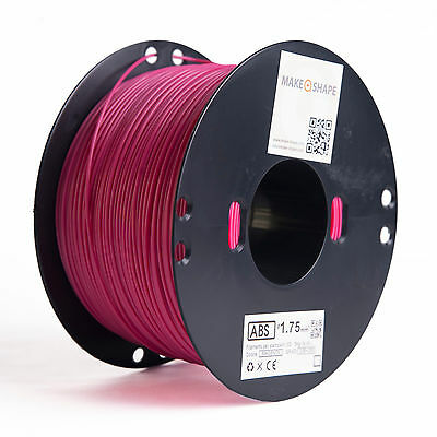 Filamento abs magenta 1kg 1.75mm stampa 3d 100% made in italy