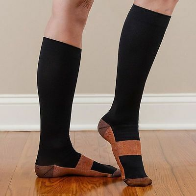 Hommes Femmes Chaussettes Socks Compression Anti-Fatigue Stocking Calf Support