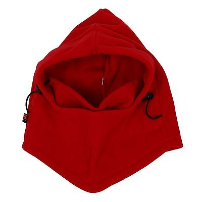 6 in 1 Thermal Fleece Balaclava Hat Face Mask New Caps Neck (Red) PK