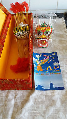 Vintage Weifang  Dragon Flying Kite in original box