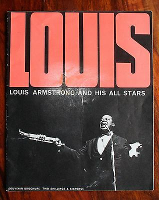 Louis Armstrong And His All Stars 1960's Uk Tour Concert Programme