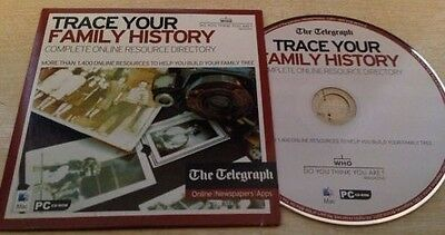 WHO DO YOU THINK YOU ARE Trace Your Family History PC-CD ROM Online Resources