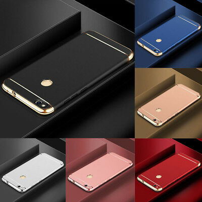 For Huawei P8 P9 P10 P20 Lite P Smart 2019 Electroplate Hard PC Back Case Cover