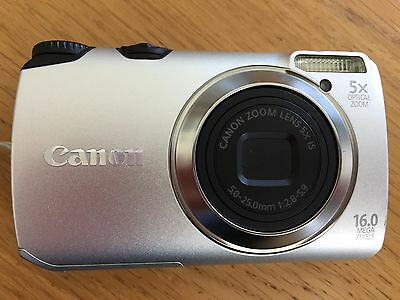 Canon Powershot A3300 is digital camera with case and 128 Mb SD card