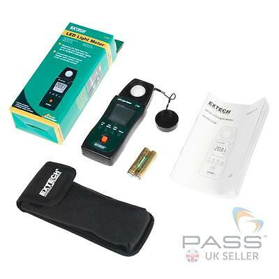 NEW Extech LT40 White LED Light Meter + Batteries and Pouch / Genuine UK Stock