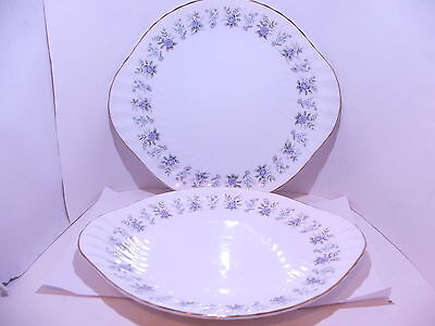 2 x Minton Alpine Spring cake bread and butter sandwich plates 1st quality