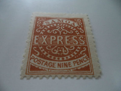 Early Samoa Express Stamp 9 Pence Brown No Gum. Origional Or Reprint