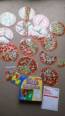 Learning resources Pizza Fraction Fun-some pieces have magnets on back 4teaching