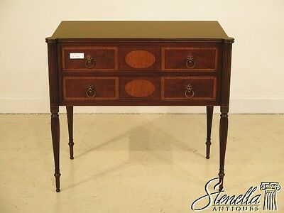 40640E:  IRWIN Vintage Sheraton Mahogany Inlaid 2 Drawer Server C. 1920's