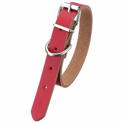 Leather collar For Dog Cat Pet Puppy Pink-L D5M9