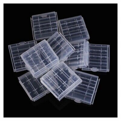 10x Plastic Case Holder Storage Box Cover for Rechargeable AA AAA Batteries PK