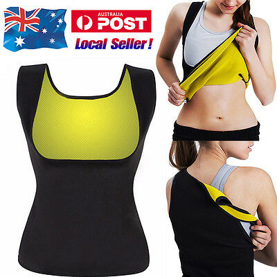 Hot Yoga Sweat Body Shaper Slimming Waist Trainer Cincher Neoprene Vest & Belt
