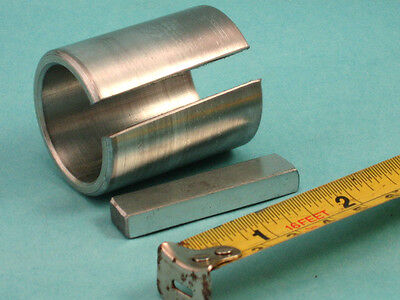 "1-1/8"" X 1-7/16"" X 3"" Shaft Adapter Motor Pulley Bore Reducer Bushing & Key"