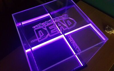 Large Memorabila display case / engraved hood+LED lightin / customise your order