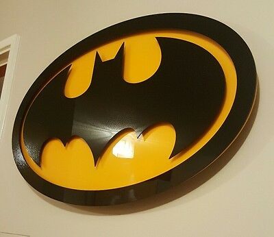 Batman classic logo icon / large 3D acrylic sign / wall feature / NEW hand made