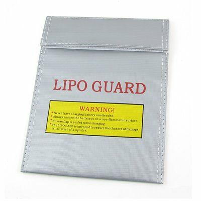 Battery Safety Bag Fireproof LiPo Silver 23cm x 19cm PK